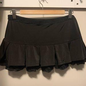 Skirts - Mini black rave skirt